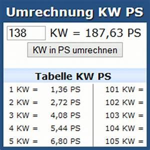 Ps Kw Rechnung : umrechnung kw ps online rechner und tabelle ~ Themetempest.com Abrechnung