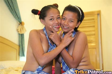 Two Busty Filipina School Girls Showing Their Juicy Twats