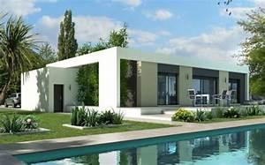 Plan Maison Contemporaine Toit Plat : plan maison gratuit ~ Nature-et-papiers.com Idées de Décoration