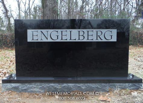 contemporary black granite tombstones headstone