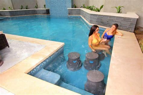 Swim Up Bar Pool Seats  Liquidseat  Modern  Hot Tub And