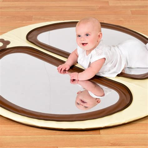 floor mirror baby baby double mirror floor pad natural