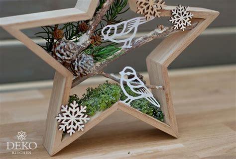 diy huebsche weihnachtsdeko mit winterszenen  sternrahmen deko kitchen