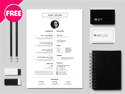 Great Cv Templates Free best free resume cv template free psd ui