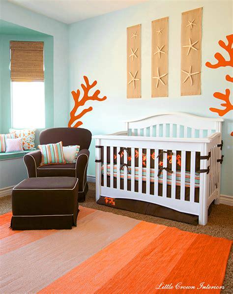 chambre bébé orange décoration chambre bébé orange
