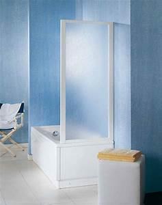 Paroi Douche Baignoire : pare baignoire huppe pare baignoire 1 volet pivotant x cm verre de pare baignoire fixe b ~ Farleysfitness.com Idées de Décoration