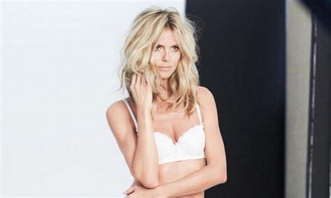 Heidi Klum Shares Revealing Photo Lacy Underwear