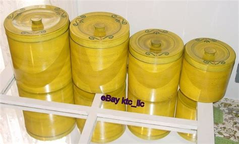 funky kitchen canisters 387 best very vtg kitchen yellows images on pinterest kitchen yellow antique glass and glass