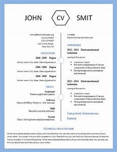 Modern Resume Template 793 – 799 – Free CV Template dot Org