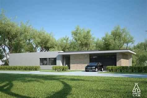 Houseplans.com Plan #552-4 Front Elevation Midcentury