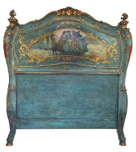 pair  venetian italian twin beds painted furniture