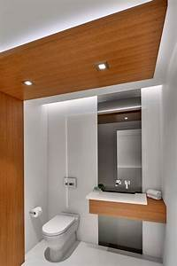 Modern, Bathroom, With, Wood, Panels, For, Warmth