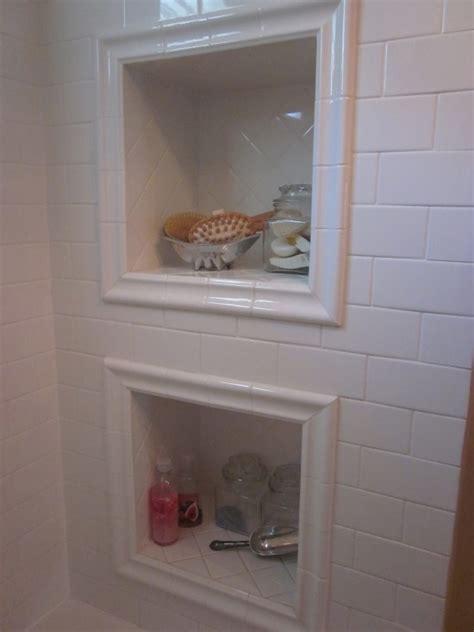 bathroom shower niche ideas framed shower niche boca grande rehab bathroom pinterest