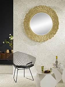 Miroir Deco Salon : miroir rond d co feuilles dor s miroir d coration ~ Melissatoandfro.com Idées de Décoration