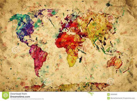 Photo De Carte Du Monde Vintage by Carte Du Monde De Vintage Peinture Color 233 E Photo Libre De