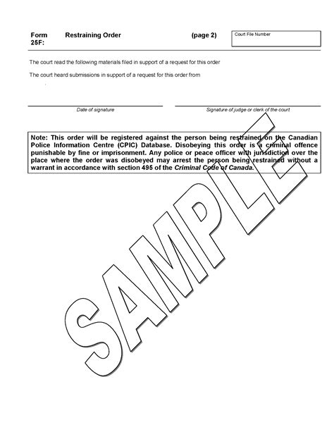 Trespass Notice Template Ontario by Restraining Order Ministry Of The Attorney General