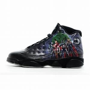 2016 Air Jordan 13  U201cavengers U201d Custom Black For Sale Online  Price   93 00
