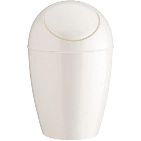 umbra plastic trash   lid white  small trash cans
