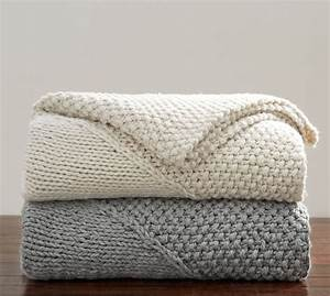 oversized chunky diamond knit throw pottery barn With chunky knit blanket pottery barn