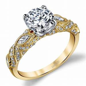 lyria crown milgrain leaf diamond engagement ring in With crown design wedding rings