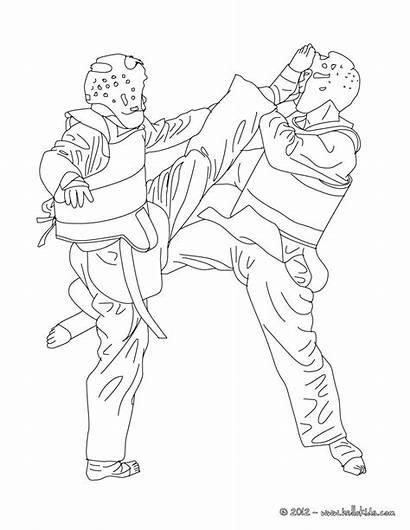 Coloring Pages Taekwondo Karate Bruce Lee Sports