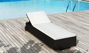Bain De Soleil Noir : lit de piscine en rsine tresse noire multi positions de qualit ~ Edinachiropracticcenter.com Idées de Décoration
