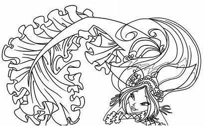 Coloring Pages Fantasy Adults Printable Winx Koi