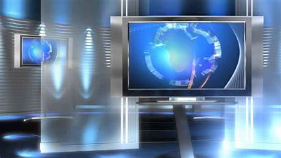 Newsroom Background Virtual Title