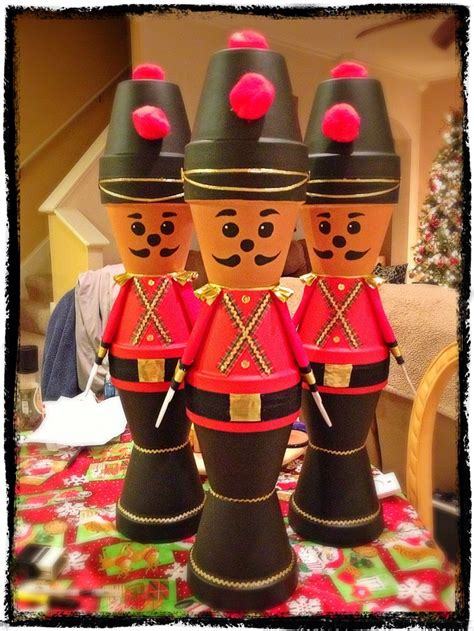 flower pot soldiers christmas pinterest soldiers