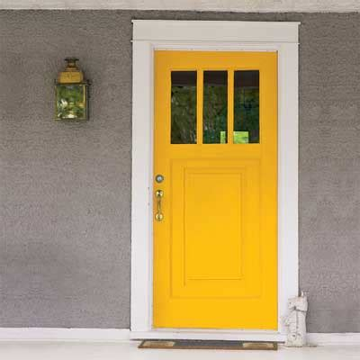 neutral siding yellow personalize your front door with