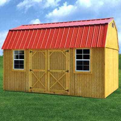 Comfortable living can be found in this barn roof style cabin. Treated Side Lofted Barn |Side lofted barn cabin with porch