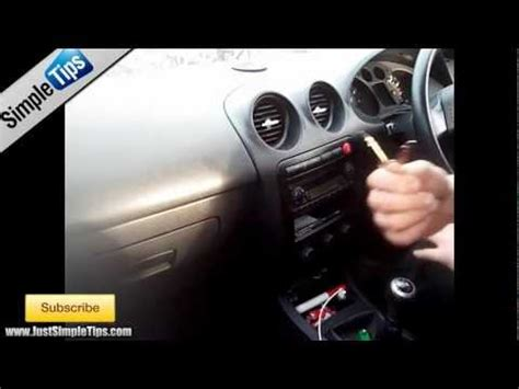 radio removal seat ibiza   justaudiotips youtube