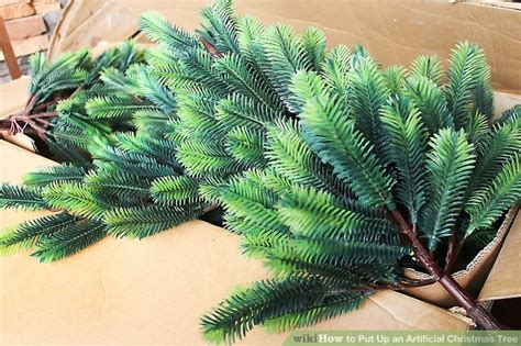 how to fix a leaning christmas tree how to put up an artificial tree 8 steps