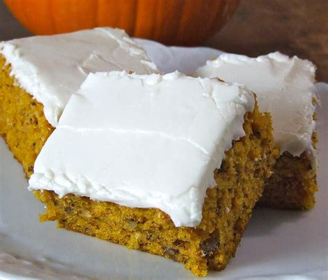 pumpkin cheese frosting nutty pumpkin bars with cream cheese frosting someone left the cake out in the rain