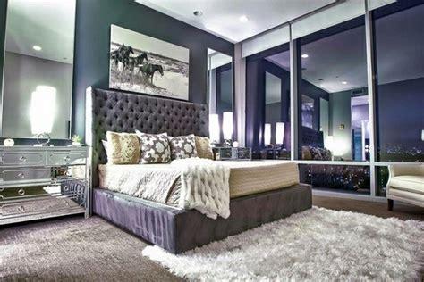 bedroom furniture  bedside tables  mirror surface