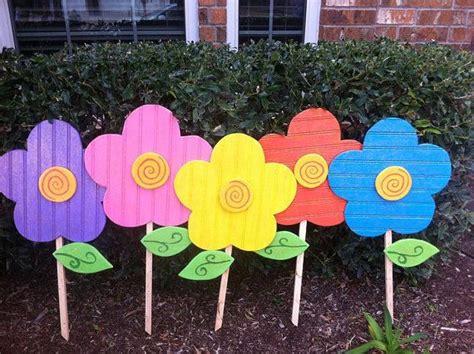Spring Flowers Yard Art Decoration