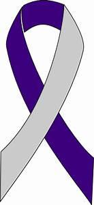 Purple/silver Ribbon Clip Art at Clker.com - vector clip ...