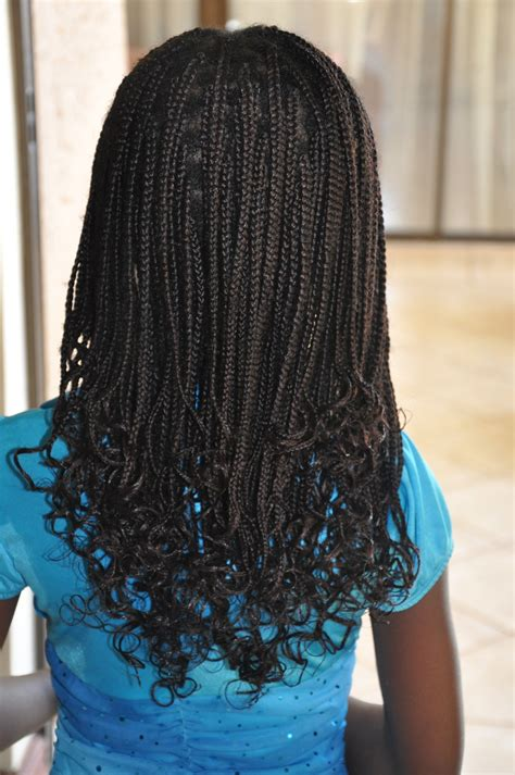 Kids Braids with Weave Hairstyles for Girls