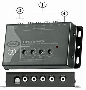 Amazon Com  Boss Audio Bvam5 Video Signal Amplifier 4 Rca
