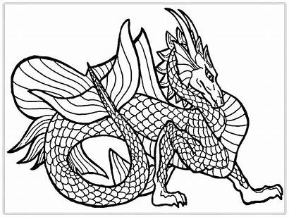 Dragon Coloring Pages Complex Printable Epic Getcolorings