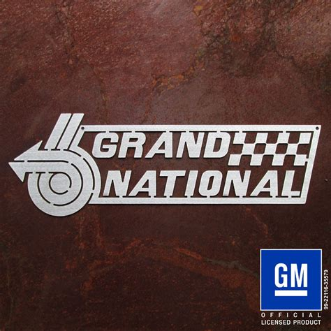 Buick Grand National Logo by Grand National 6 Sign Speedcult Officially Licensed