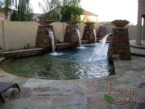 autumn blend flagstone surrounds  resort style pool