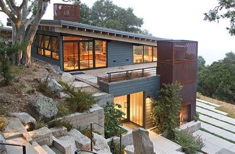 home built   slope hillside house architecture