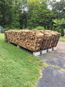 Firewood stacking racks holds 1 cord per row Made with 3