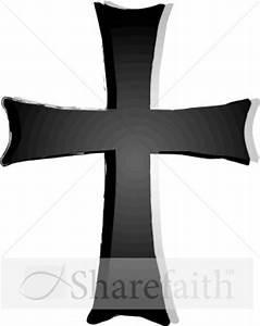 Shades of Gray Cross Clipart | Cross Clipart