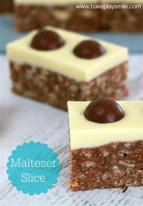 easy malteser slice recipe recetas de comida  perros