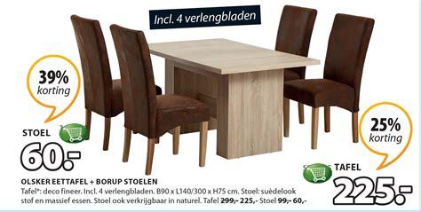 aanbieding eettafel met stoelen eettafel stoelen aanbieding vind actuele folder met de