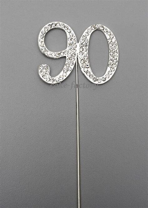 silver number  cake pick topper decoration  diamante