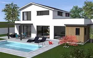 maison moderne a etage toit terrasse maisons bati sud With photo de terrasse moderne