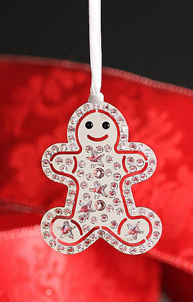 swarovski christmas gingerbread man ornament